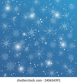 Snowflakes on a blue background. eps10