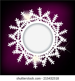 Snowflakes on a circle. Vector