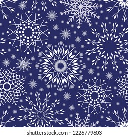 Snowflakes on Midnight Blue