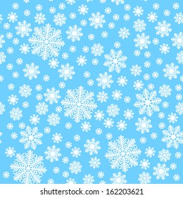 Snowflakes on triangles - Christmas background
