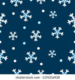 snowflakes pattern white snowflakes on blue background