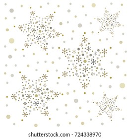 Snowflakes seamless background for christmas decoration, wrappers, packaging, cards, textiles