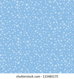 Snowflakes seamless pattern, snow background. See also numbers set #111779138 and ABC set #118411012 from this Christmas collection.