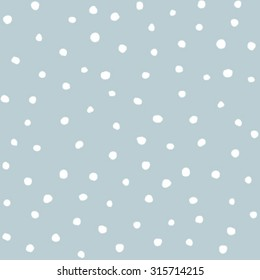 Snowflakes seamless pattern, snow background. Vector illustration.