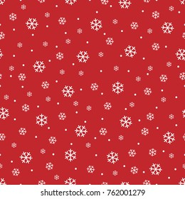 Snowflakes seamless pattern, snow background. Wrapping paper. Christmas wallpaper.