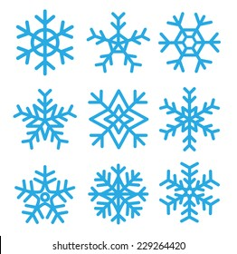 Snowflakes set.vector illustrations