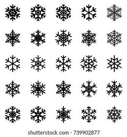 Snowflakes symbol set