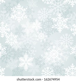 Snowflakes wallpaper - Vector winter time seamless pattern