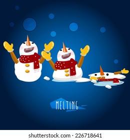 snowman character - vector illustration