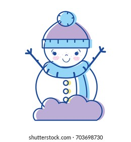 snowman to decorate and celebrate merry christmas