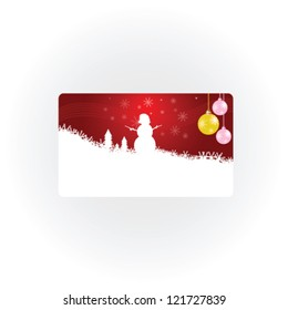 snowman new 2013 year vector illustration part one