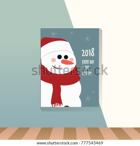 snowman new year quotes in frame