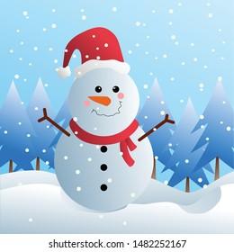 Snowman on snowy weather. Seasonal theme. Easy to used. I hope you like it.