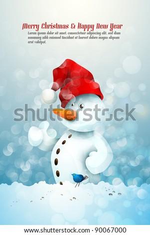 fee0a7aeac6db Snowman Santas Hat Fellowship Little Blue Stock Vector (Royalty Free ...