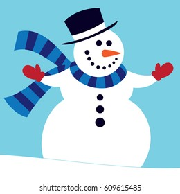 Snowman in Tophat
