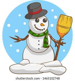 snowman  vector graphic clipart design