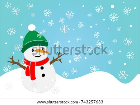 7f4d324eb7a57 Snowman Winter Field Illustration Snow Smiling Stock Vector (Royalty ...