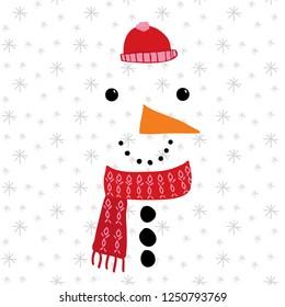 snowman winter snow carrot olive weft bruise child tee illustrationa art vector