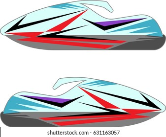 Snowmobile, Snow Machine, Motorcycle, Bike, Scooter Graphics, Stripe : Vinyl Ready Vector Illustration