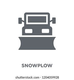 Snowplow icon. Snowplow design concept from  collection. Simple element vector illustration on white background.