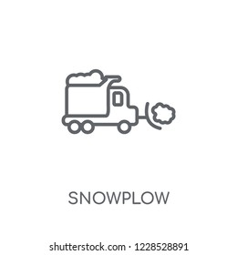 Snowplow linear icon. Modern outline Snowplow logo concept on white background from Winter collection. Suitable for use on web apps, mobile apps and print media.