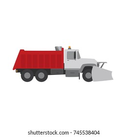 Snowplow truck icon, vector illustration design. Winter collection.