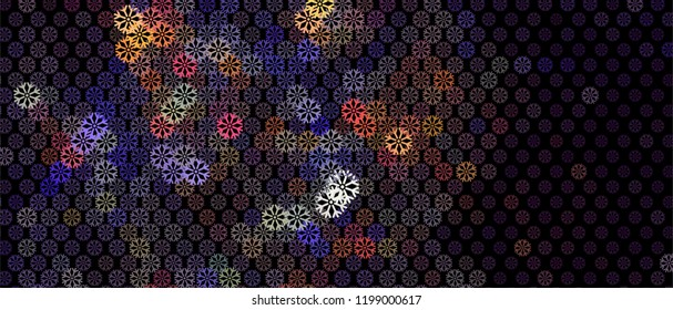 Snowy background. Abstract winter background with snowflakes. Vector clip art.
