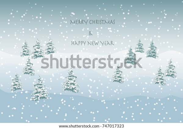 Snowy landscape greeting image