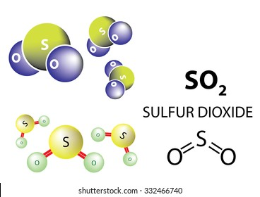 SO2, Sulfur dioxide is a toxic gas