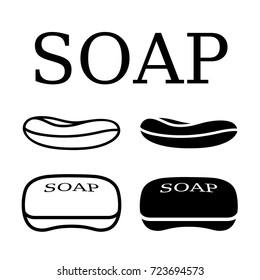 soap black simple shape vector
