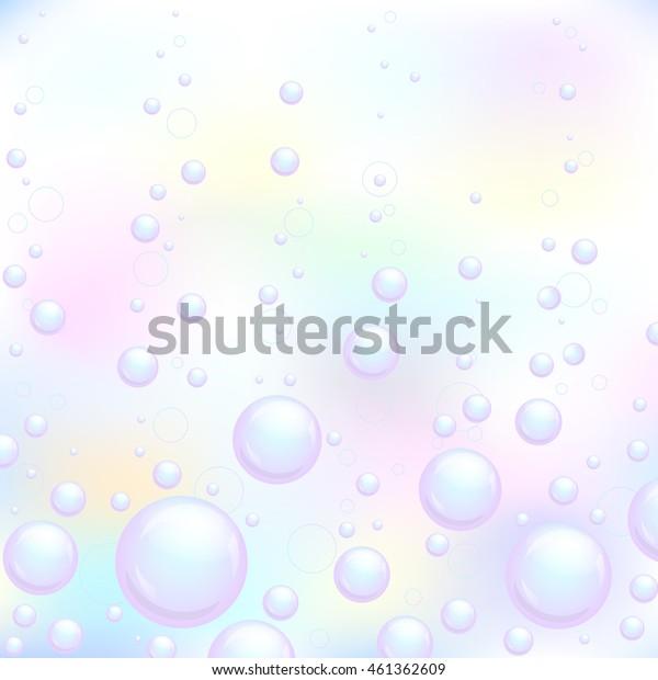 Soap bubbles background