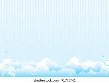 Soap bubbles. Background from soap bubbles. Vector Illustration