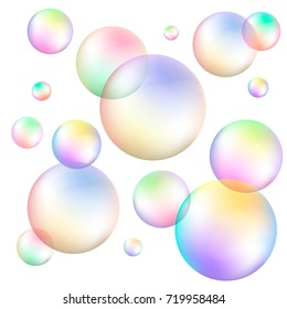 Soap Bubbles Colorful Vector Illustration