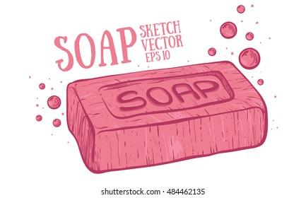 Soap cartoon illustration.