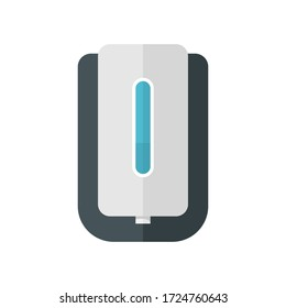 Soap dispenser flat icon. Colorful illustration of soap dispenser. Vector.