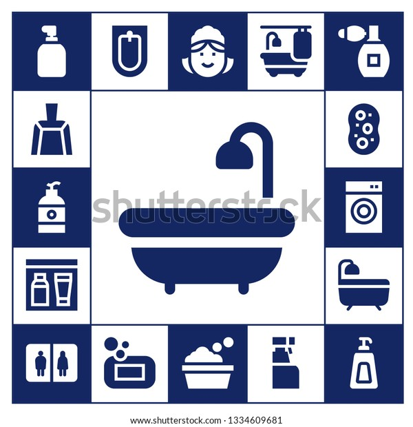 Soap Icon Set 17 Filled Soap Stock Vector Royalty Free 1334609681