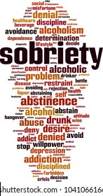sobriety word cloud concept. Vector illustration