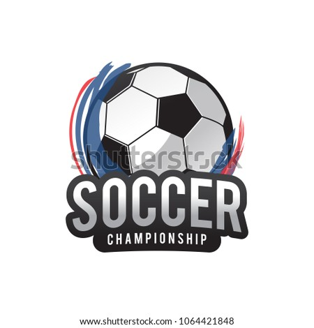 soccer 2018 championship logo stock vector royalty free 1064421848