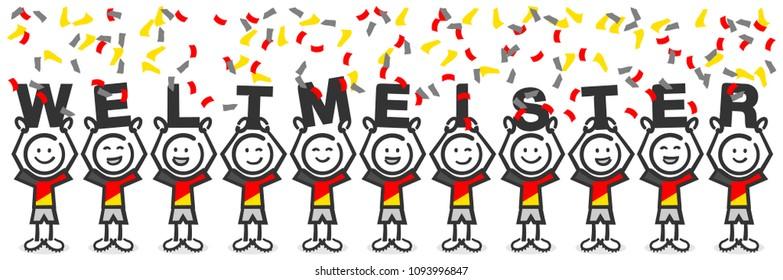 Soccer 2018 winner germany drawing (german)