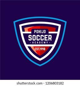 Soccer academy badge sport logo template