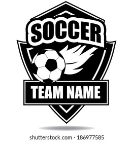 Soccer badge icon symbol EPS 10 vector, grouped for easy editing. No open shapes or paths.