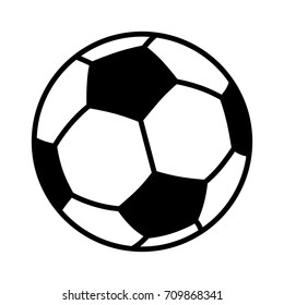 Soccer ball or association football flat vector icon for sports apps and websites