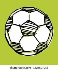 soccer ball background vector art