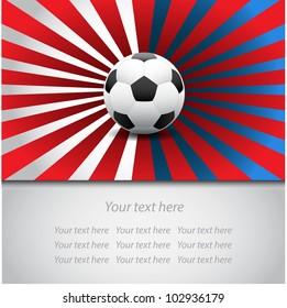 Soccer ball card