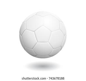Fotbalový míč s klasickým designem izolované na bílém pozadí. Vektorová ilustrace.