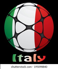 soccer ball with the flag of Italy