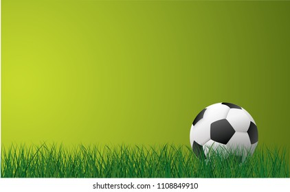 Soccer ball football banner poster green grass field illustration vector eps background wallpaper sign icon template EK WK Europees play model football 2019 2020 street sports finale world school uae