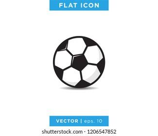 Soccer Ball, Football Icon Vector Logo Design Template.