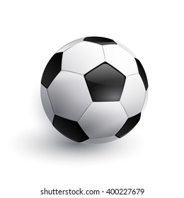 Soccer ball. Football ball. Realistic soccer ball isolated on white. Vector