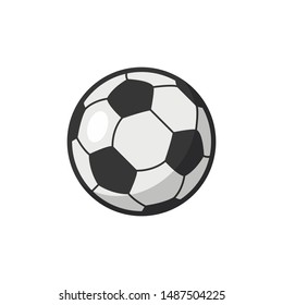 Soccer ball, football ball, vector illustration in flat style